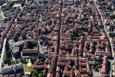 Vista aerea di Santhià