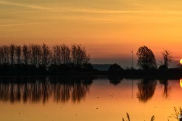 Un tramonto primaverile